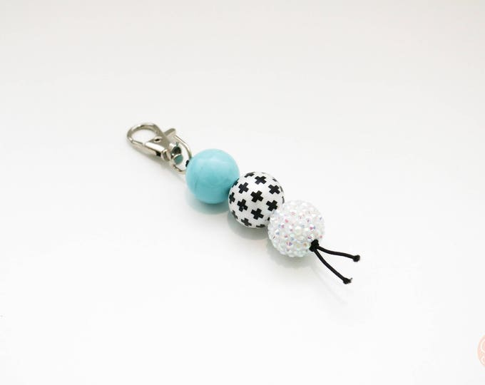 Mini Rocker Beaded Keychain | Zip Pull