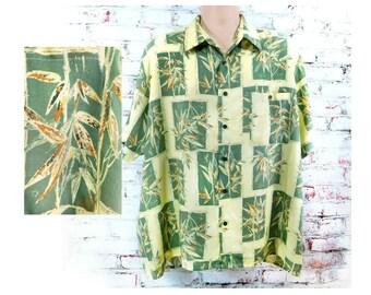 Hawaiian shirt men - men's Aloha shirt - luau party clothing - Tropical party shirt -Summer party shirt - Luau shirt -  Size XL  # 170