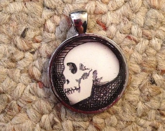 Skull Image Pendant Necklace-FREE SHIPPING-