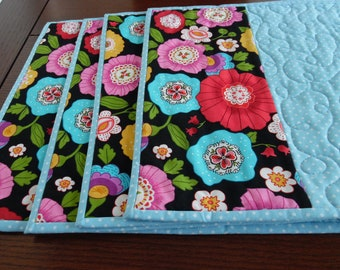 Placements, flowered placements,spring placemats, Easter placemats, Mother's day placemats, many flowers