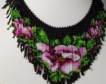 Beading Necklace Tutorial Seed Beads Pattern PDF File Instant download