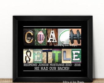 Football Coach Gift, Football Print Only, Football Mom, Football Coach Wife, Football Team Gifts, Coaches Gift, Sports Team Gift, Sports Art