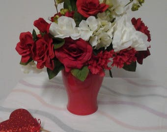 The Key  to my Heart Valentines Day Floral Arrangement