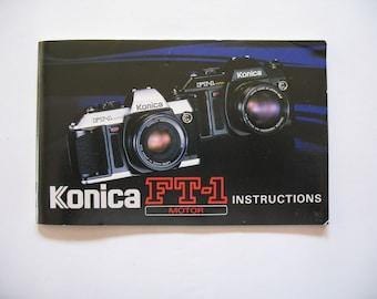 Konica FT-1 Motor Camera Instruction Book