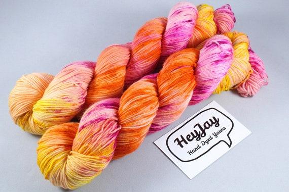 Hand Dyed Sock Yarn Superwash Merino/Nylon - Woah Mama