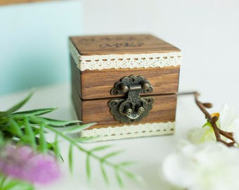 Rustic Engagement Ring Box