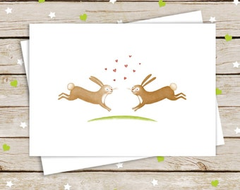 Bunny Love Engagement / Anniversary / Wedding Card