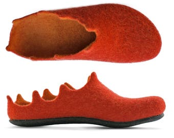 style felted slippers, present idea, shoes