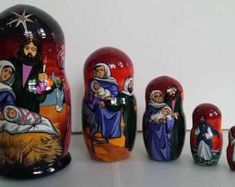 Nesting dolls Nativity scene