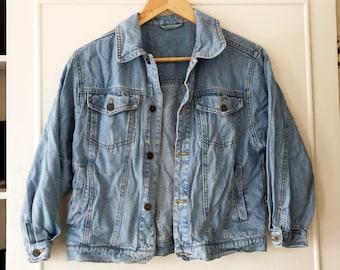Vintage VTG 1980s 1990s Light Wash Denim Jacket