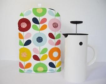 Scandinavian fabric 8 cup coffee Cafetiere/Press Cosy - Cirkelblomma