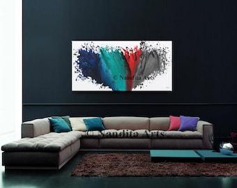 ORIGINAL FINE ART on Canvas, Modern Painting, Large Painting, Original Abstract Decor, Abstract Painting, Contemporary Wall Art by Nandita