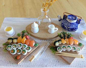 Miniature Sushi & Nigiri Platter (With Chopsticks)