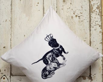 """Cushion Cover -  """"The Royal Collection"""" - Dachshund"""