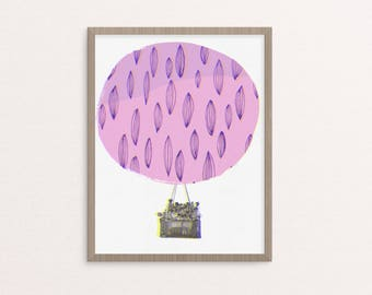 Hot Air Balloon Ride - Print