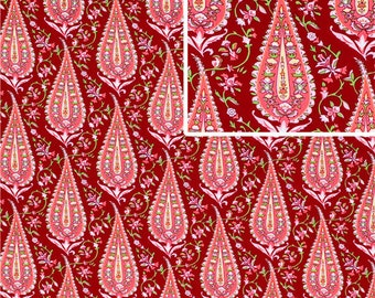 Amy Butler Cypress Paisley in Wine 1/2 Yard from the Amy Butler Love Collection