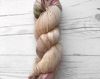 "Single Ladies Base - ""Desert Rose"" - Single Ply Fingering - Hand Dyed Yarn"