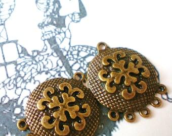 6  bronze Earring chandelier jewelry finding 23mm 29mm (F6)