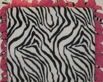 Zebra Print Stadium Seat Cushion