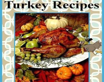 524 Turkey Recipes E-Book Cookbook Digital Download