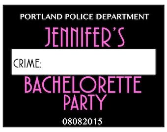 Bachelorette Mugshot - Parties/Birthdays/Bridal Showers - Vintage Mug Shots -  DIGITAL DOWNLOAD