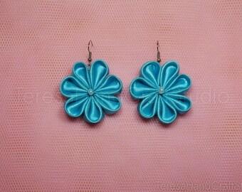 Kanzashi Flower Earrings