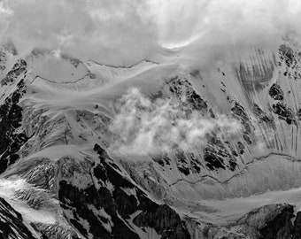 Stormy Skies Above a Glaciated Peak in Kluane National Park, Yukon Territories, Canada