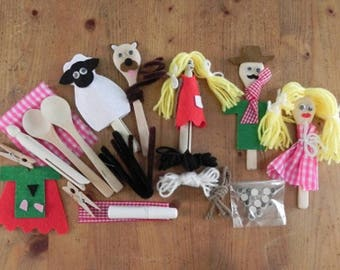 Peg and Spoon Puppet Kit by Apples To Pears -