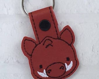 Razorback Key Chain, Razorback, Hogs, Go Hogs, Arkansas, Pig Sooie, Team Spirit, Football, From The Stands, Cheer