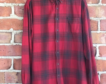 Vintage Oversized Red/Black Flannel