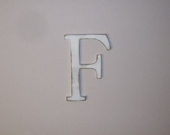 Wood Letter F 12-inch Distressed Letter  Monogram Initial