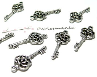 small key silver ROSETTE old 2B 4580 20 pendants