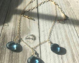 London Blue Quartz Necklace