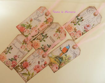 set of elegant tags: SHABBY STYLE