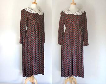 SALE / ON SALE / Final Sale / Vintage Dress / 80s Dress / 80s Vintage Dress / Babydoll Dress / Empire Waist Dress / Midi Dress / Size Medium