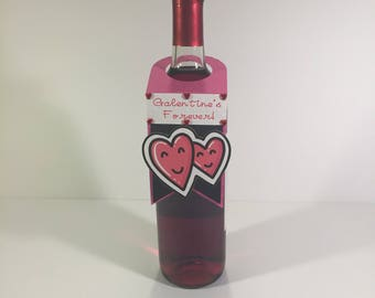 Galentine Forever Wine Bottle Gift Tag