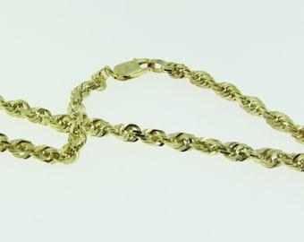 10 K gold rope bracelet