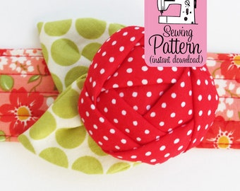 Rose Pincushion Cuff PDF Sewing Pattern | Make a wearable wristband bracelet flower pin cushion.