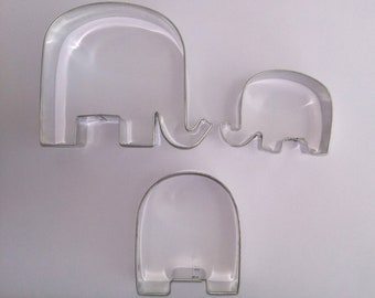 Big 3.56 inches Republican Elephant Cookie cutter GOP or baby shower cookie cutter Made In USA primitive elephant