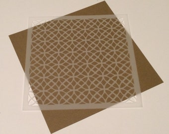 Square 5 inch stencil - Circle / Lacy Pattern