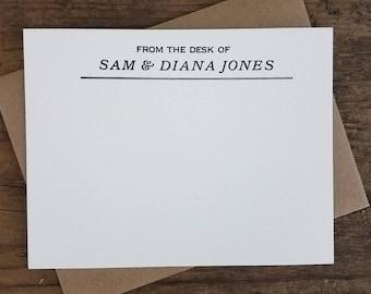 Custom Letterpress Stationery | Personalized Notecards | Black and Kraft