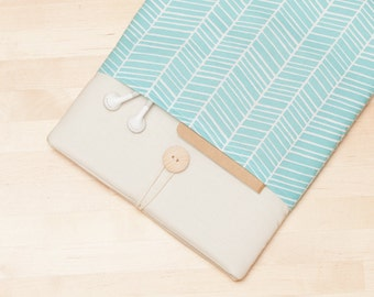Surface Pro 4 sleeve, Surface Pro case, Surface Laptop Cover, Surface 3 Case, padded with pockets - Lines