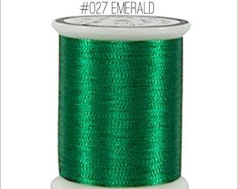 Green shades Superior Metallic Thread