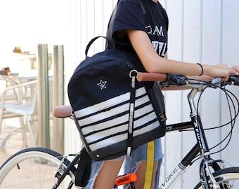 Leptop backpack,Student backpack , Vegan backpack, Casual daypack