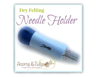 Felting Needle Holder incl 7 Felting Needles, Dry Felting Tool, Needle Felting Quick Tool, Application Tool, Needle Felting Application Tool