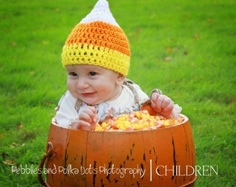 Candy Corn Hat  for  Newborn  to 3 Months