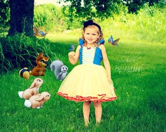 SNOW WHITE costume, princess dress, Snow White dress,  girls princess  costume dress TUTU dress style princess costume