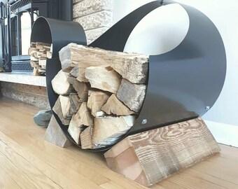 Firewood Holder | Firewood Rack | Firewood | Rustic Chic | Rack | Metal |  Camp Fire | Wood Stove | Wood | Cabin Chic | Cabin | Log Storage