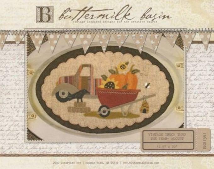 """Pattern: Vintage Truck Thru the Year - August """"Wheelbarrow"""" by Buttermilk Basin"""