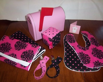 Hot Pink and Black Special Delivery Newborn Gift Set